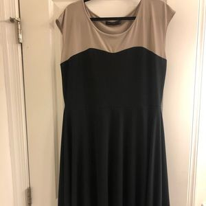 The limited Black and Tan flare dress